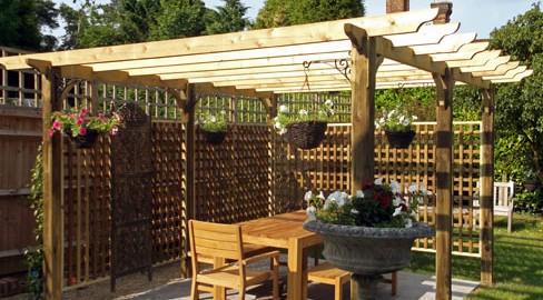 Tate Fencing garden pergolas