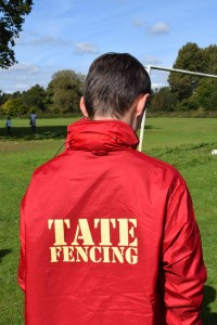 Hurst Green Football Club Jackets Sponsored by Tate Fencing