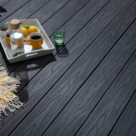 HD Deck Composite Decking Carbon Installed
