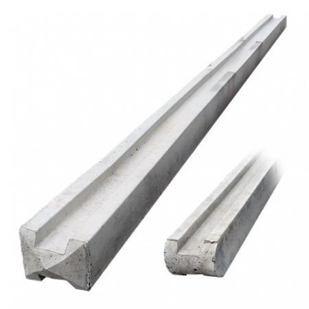 Double ended concrete slotted fence post