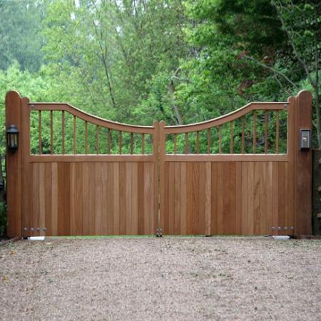 Fernhurst Gates in Iroko Hardwood